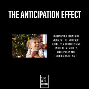 THE ANTICIPATION EFFECT