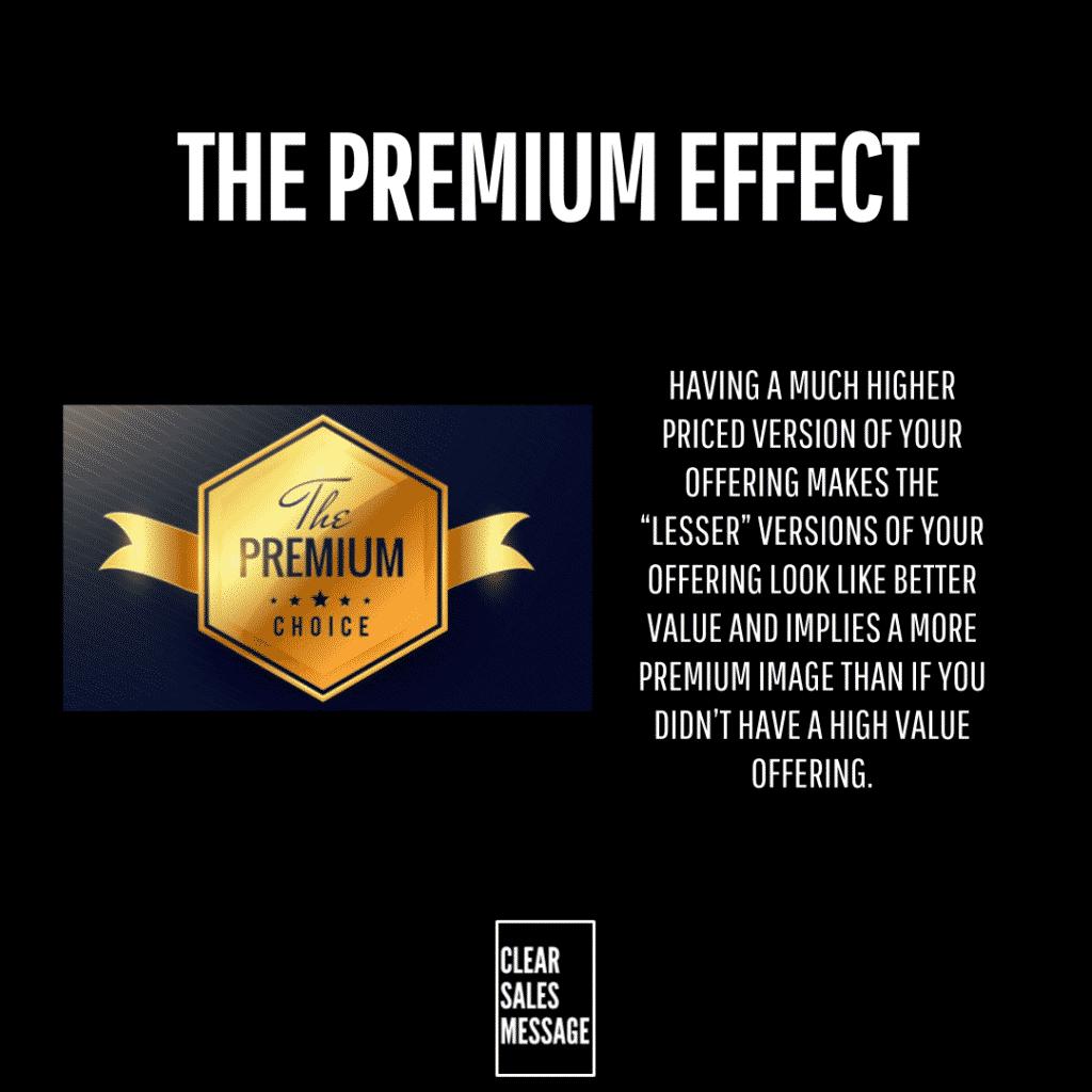 the premium effect