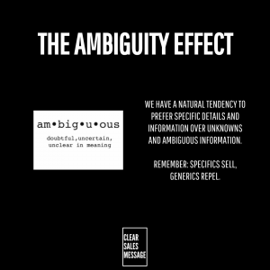 The Ambiguity Effect