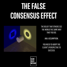 FALSE CONSENSUS EFFECT 2