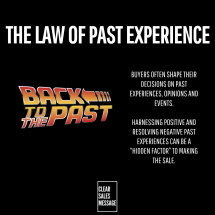 THE LAW OF PAST EXPERIENCE