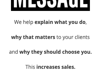 Our Sales Message